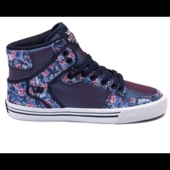 Womens Supra Vaider High Skate Shoe Purple Floral.  M 5a8b35935521be0012605be8 d044ed492